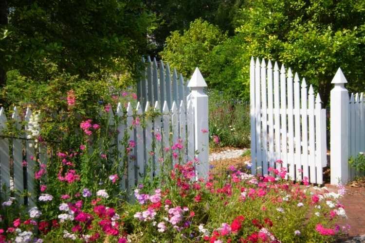 cloture jardin pvc